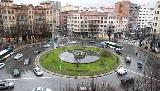 La plaza Príncipe de Viana.