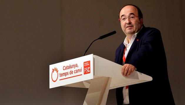 Foto del líder del PSC, Miquel Iceta, durante la primera jornada del congreso de los socialistas catalanes.