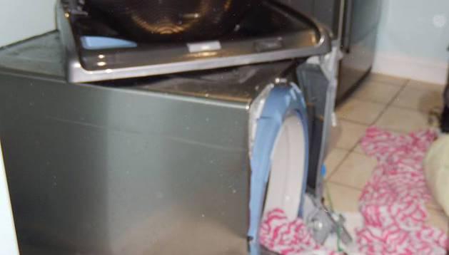 Foto de una de las lavadoras Samsung afectadas.
