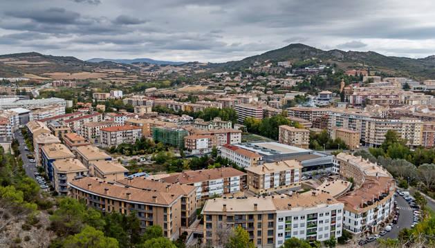 Panorámica del Sector B de Estella, un área residencial desarrollado a partir de los años noventa.
