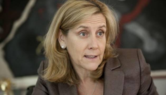 Marta Martínez, presidenta de IBM España, durante la entrevista en Madrid.