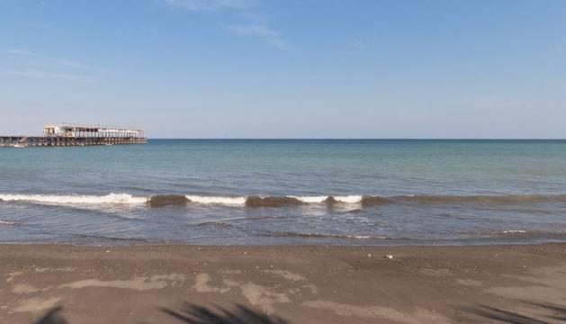 Imagen del océano Pacífico desde Puerto Armuelles, en la provincia panameña occidental de Chiriquí.