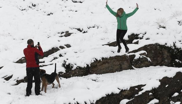 Primera nevada de la temporada en Navarra