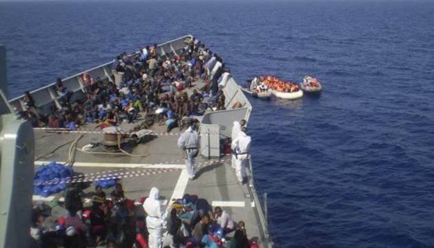 Operación de rescate el pasado mes de octubre.