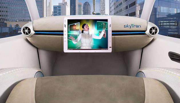 SkyTran es un sistema de alta velocidad y bajo coste  controlado por un ordenador y que se mueve por  levitación magnética.