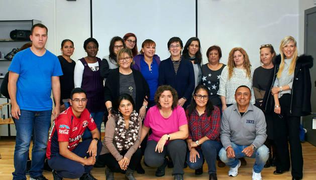 Imagen del alumnado de las 15 personas que se formarán para obtener certificados de profesionalidad.