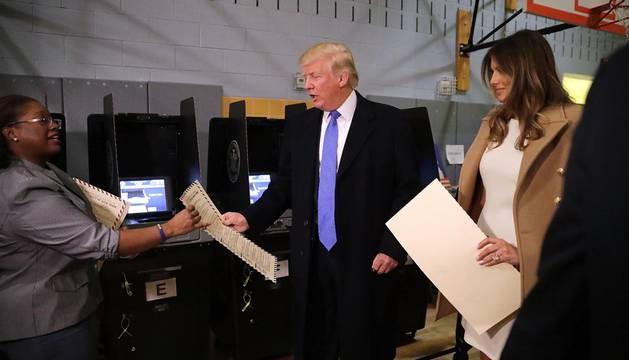 Donald Trump vota en Manhattan y dice que todo está saliendo