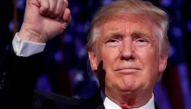 Donald Trump comparece tras ser elegido como nuevo presidente de Estados Unidos.