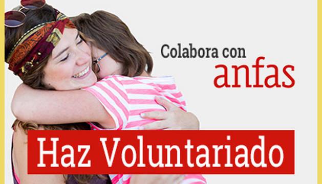 Imagen de un cartel para captar voluntarios en Anfas