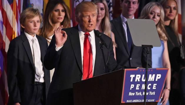 Trump, elegido presidente de los Estados Unidos