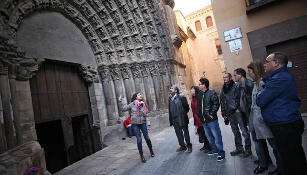 Formación de guías turísticas de personas con discapacidad de Amimet en Tudela.