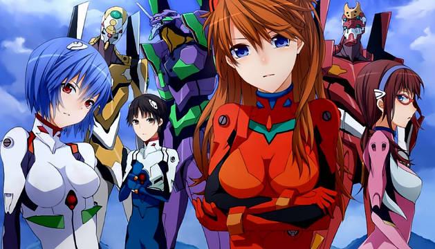 Imagen del cartel de la película Evangelion.