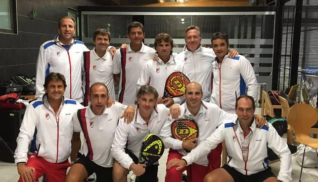 Un grupo de participantes del campeonato.