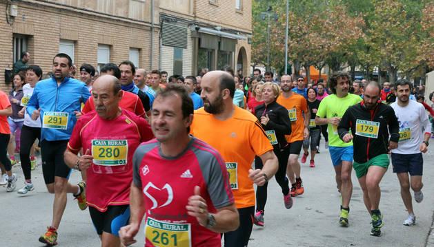 Imagen de la salida de la anterior edición de la carrera de Amimet.