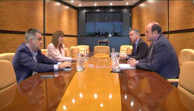 Reunión entre PSE-EE y PNV celebrada el pasado 4 de octubre.
