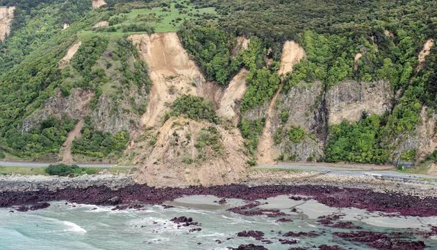 Imágenes de las consecuencias del terremoto que el 13 de noviembre sacudió Nueva Zelanda.