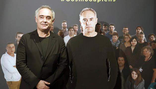 El cocinero Ferran Adrià, durante la presentación en Barcelona de la exposición 'Sapeins, comprender para crear'.