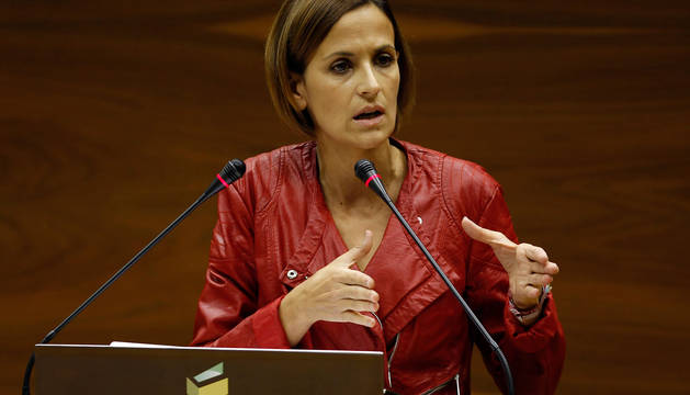 María Chivite, en el Parlamento.