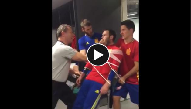 Captura del Mannequin Challengue realizado por la Selección Española de fútbol