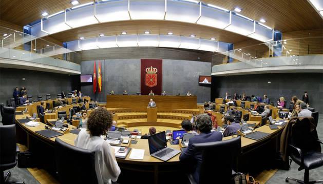Una imagen del pleno del Parlamento de Navarra.