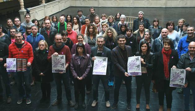 Foto de la presentación de la campaña 'Por una ciudadanía implicada contra la violencia hacia las mujeres'.