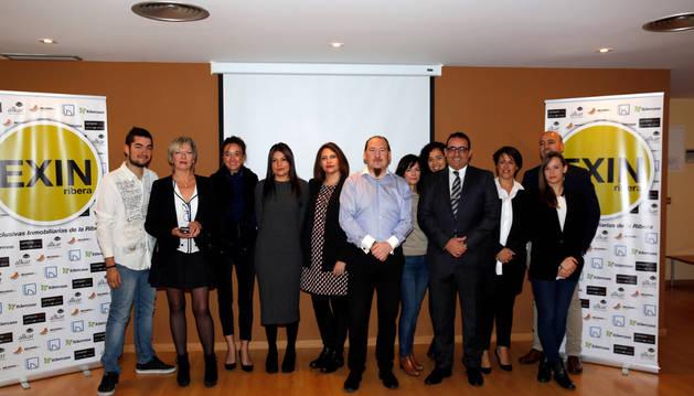 Imagen de varios de los representantes de las inmobiliarias que forman el grupo Exin Ribera.
