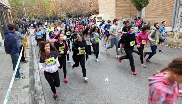 Un total de 485 atletas participaron en Tudela en la XXVIII Carrera Popular de Amimet