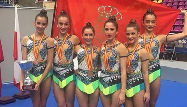 El Alaia Valle de Egües logró la medalla de bronce en júnior.