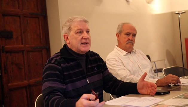 De izda. a dcha., Javier Gómez Vidal y Manuel Motilva.