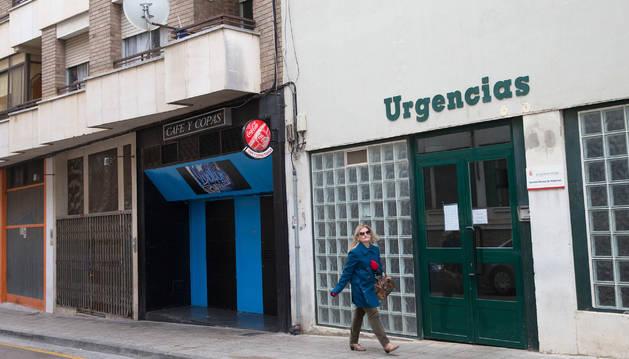 Fachada del servicio de Urgencias del centro Santa Ana de Tudela.