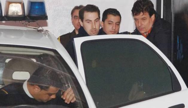 Juan Germán Hoffman en el momento de la detención en 2007.