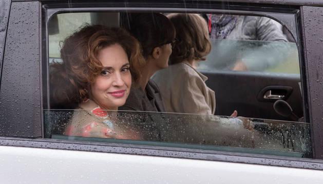 Adriana Ozores, en el rodaje de 'Thi Mai' en Pamplona.