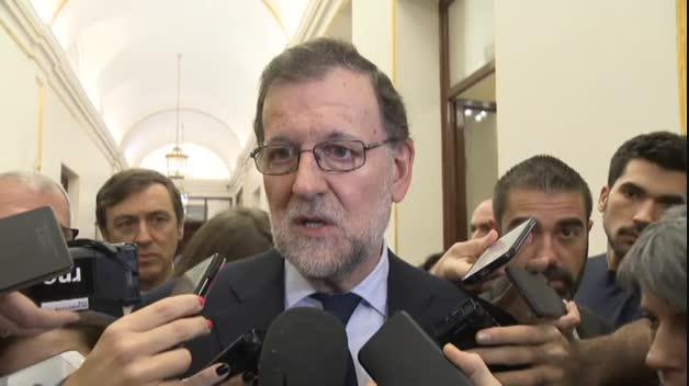 "Rajoy: ""Me siento enormemente apenado"""