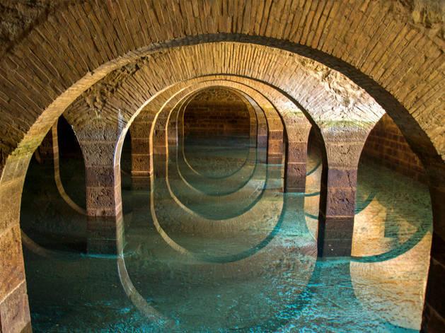 Fotografía del depósito de aguas de Mendillorri, ganadora del concurso.