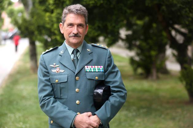 El coronel jefe de la Guardia Civil en Navarra, Javier Hernández.