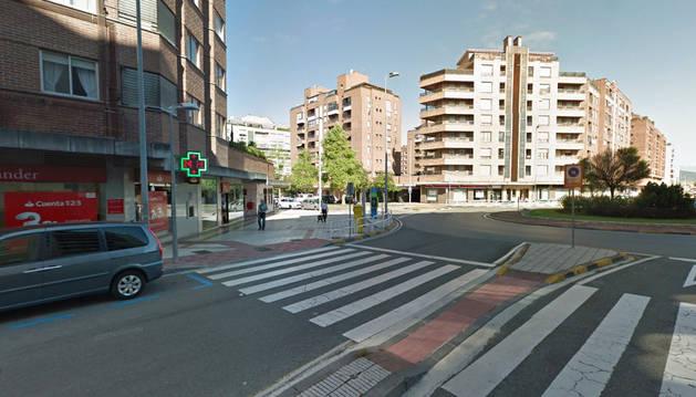 La calle Irunlarrea, en el barrio Mendebaldea de Pamplona.