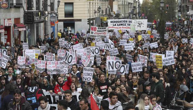 Manifestación contra la Lomce en Madrid.