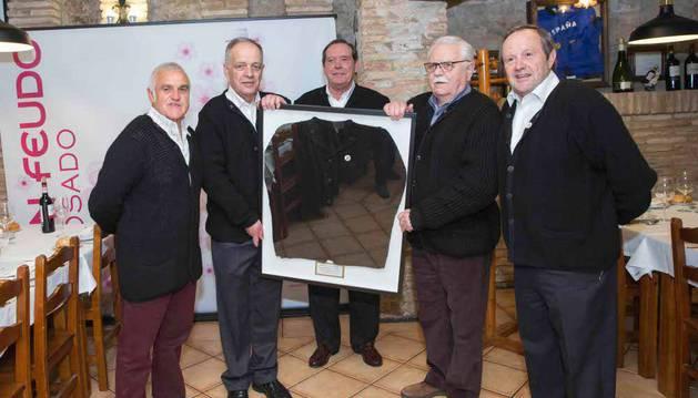 De izda. a dcha.: Julián López, Gregorio Yoldi, Ricardo Astibia, Joaquín Sáez, y Rafael Remírez de Ganuza.