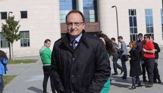 Ángel Ardanaz, después de declarar como testigo por el 'caso Osasuna', hace año y medio.