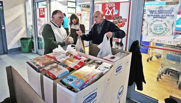 Gran Recogida de Alimentos promovida por el Banco de Alimentos