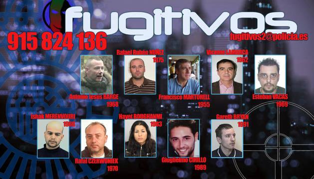 Imagen facilitada por la Policía Nacional que ha solicitado la colaboración ciudadana para localizar a diez fugitivos de la Justicia