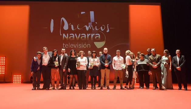 Jesús Alfaro, Adriana y Beatriz Ochoa, COMS, los paralímpicos y Milagro, galardonados en los Premios Navarra TV