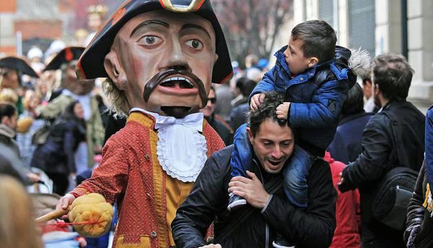 Procesión de San Saturnino en Pamplona 2016