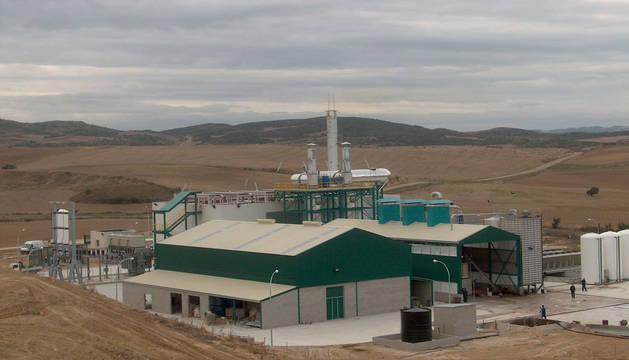 foto de la planta de cogeneración de energía de Artajona