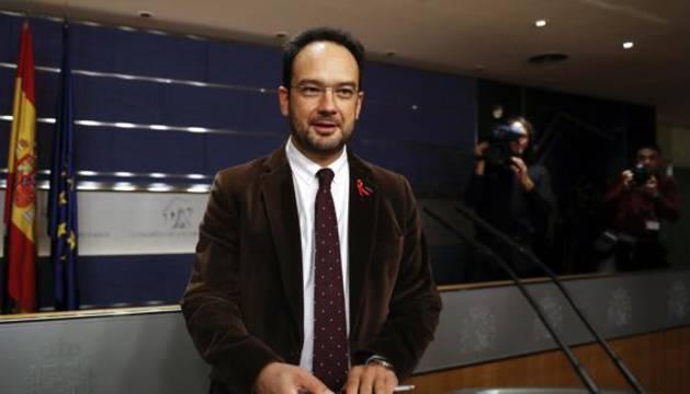 Antonio Hernando, portavoz parlamentario del PSOE.