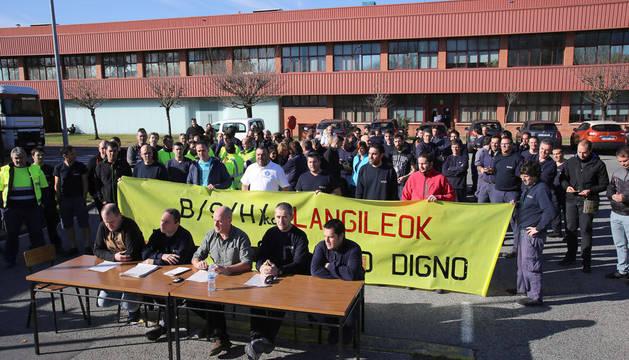 foto de la rueda de prensa de los Comités de Empresa de BSH