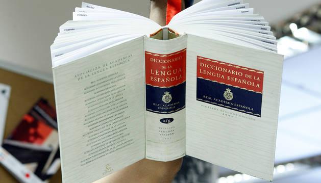 Un ejemplar del Diccionario de la RAE.