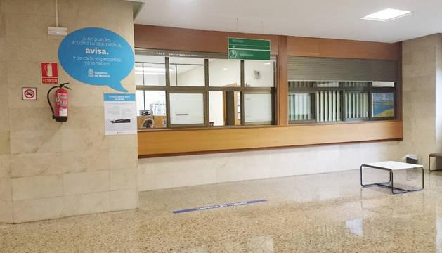 Foto del punto de información del Hospital de Tudela amplia su horario hasta las 22 horas