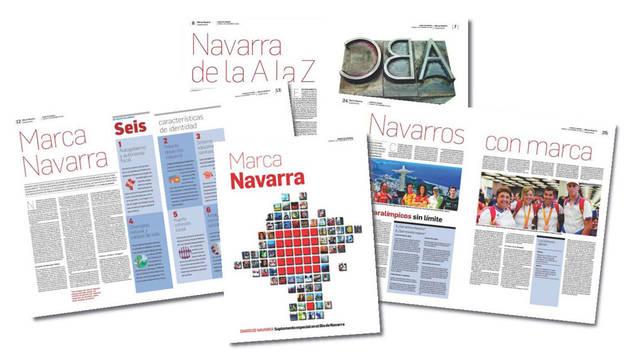foto del montaje de páginas del suplemento Marca Navarra de Diario de Navarra