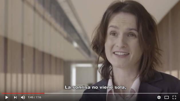 María, una de las protagonistas del vídeo.